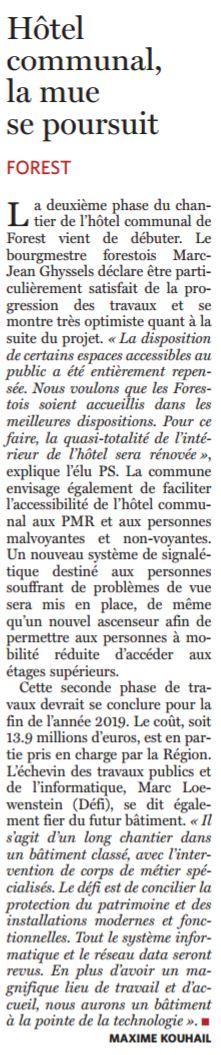 Article Le Soir du 18 mars 2017