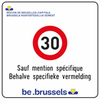 Panneau limitation 30km/h