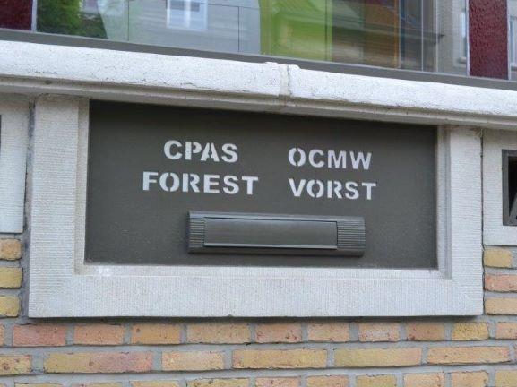 Boite aux lettre du CPAS de Forest