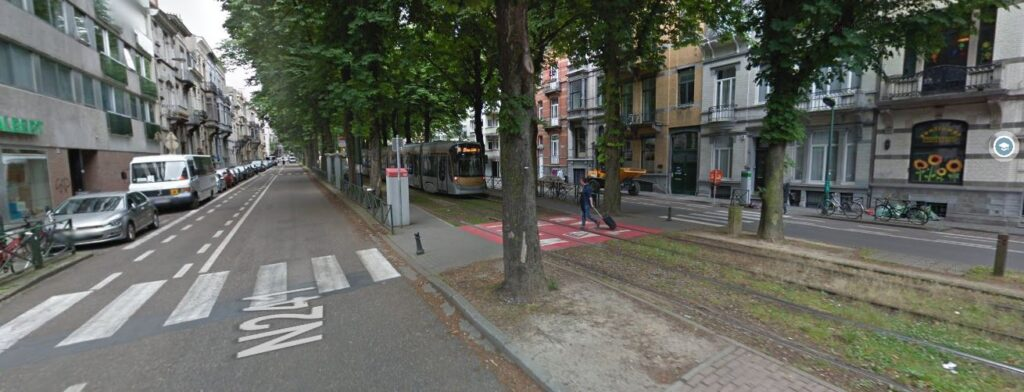 Avenue Albert - carrefour avec Berkenbdael