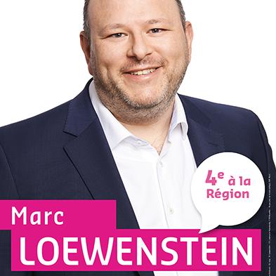 Photo d'une affiche électorale de Marc Loewenstein