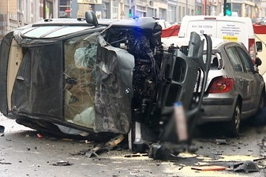 Accident entre 2 voitures